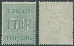 1884 REGNO SEGNATASSE 50 LIRE MH * - RC14 - 1878-00 Humbert I.