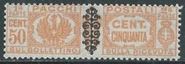 1945 LUOGOTENENZA PACCHI POSTALI 50 CENT MNH ** - RC11 - 5. 1944-46 Lieutenance & Umberto II