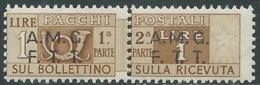 1947-48 TRIESTE A PACCHI POSTALI 1 LIRA MNH ** - RC11 - Paketmarken/Konzessionen