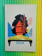 """Calendrier 1934 Offert Par BERGOUGNAN """" LE GAULOIS """" - Talon Fixe Et Tournant , Semelles - Petit Format : 1921-40"""
