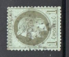 YT 25 OBLITERE ETOILE DE PARIS 28 - 1863-1870 Napoléon III Lauré