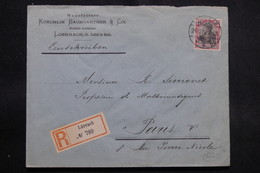 ALLEMAGNE - Enveloppe Commerciale En Recommandé De Lörrach Pour Paris En 1912, Affranchissement Plaisant - L 56367 - Covers & Documents
