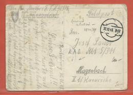 ALLEMAGNE CARTE FRANCHISE MILITAIRE CENSUREE DE 1944 POUR KARLSRUHE - Occupation 1938-45