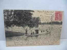 VIET NAM  SUR LE MEKPONG CPA DOS NON DIVISE 1906 Collection Sylvia Mottet Et Cie Ediiteur Saigon - Vietnam
