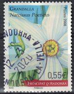 Andorre 2008 Oblitéré Used Fleur Narcissus Poeticus Narcisse Des Poètes SU - Französisch Andorra