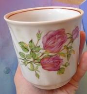 USSR Soviet Baranovsky Porcelain Factory MUG CUP Rose Baranovka Hallmark - Porselein & Ceramiek