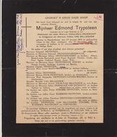 Faire Part De Décès Edmond Trypsteen Blankenberge - Overlijden