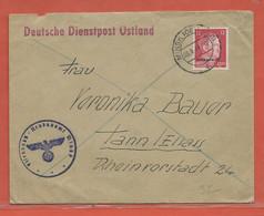 ALLEMAGNE OCCUPATION OSTLAND DE 1943 DE MINSK POUR THANN ALSACE - Occupation 1938-45
