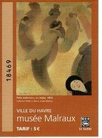 Ticket D'entrée: MUSEE MALRAUX - Ville Du Havre (  France ) - Tickets - Vouchers