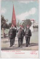 CONSTANTINOPLE - Porte-drapeau Et Soldats Ottomans Armée Turque Soldat Turquie - Türkei