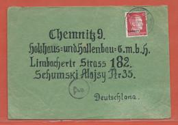 ALLEMAGNE OCCUPATION UKRAINE LETTRE DE 1942 DE WISCHNOWITZ - Occupation 1938-45