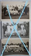 Photo X3 SPY Equipes De Football Circa 1940-50 - Sports
