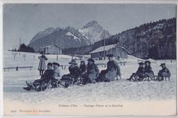 Château D'Oex (Vaud Suisse) - Paysage D'hiver Et La Gumfluh - Luge Sport D'hiver - VD Vaud