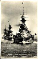 Ramilles, Royal Sovereign, Revence. Battleships Returning Home After Exercises. Barcos.  Ship. Navire. - Guerra