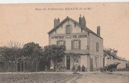 MEAUX (S.-et-M). Rue De Fublaines. Au Pont Neuf Cretel Vins-Liqueurs. Voiture - Meaux