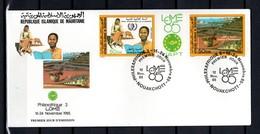 MAURITANIE  PA N° 237A   ENVELOPPE PREMIER JOUR COTE ?€    PHILEXAFRIQUE III   INDUSTRIE  ANIMAUX - Mauritania (1960-...)