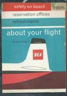 """Année  1961- Dépliant 36 Pages , 12 Cartes """" British European Airways""""   Pma83 - Tourism Brochures"""
