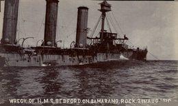 Wregk Of H.M.S. Bedford On Samarang Rock, 1910. Barcos. Ship. Navire. - Guerra