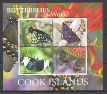 2020 COOK ISLANDS BUTTERFLIES OF THE WORLD FLORA & FAUNA KB MNH - Farfalle