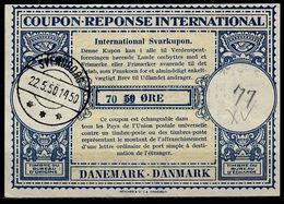 DANEMARK / DENMARK Lo15 Lpr. 70 / 50 ÖREInternational Reply Coupon Reponse Antwortschein Svarkupon IRC IAS O SVENDBORG - Enteros Postales