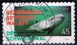 Bund 2019,Michel# 3437 O  Gefährdete Tiere In Deutschland, Schweinswal, Selbstklebend - [7] République Fédérale