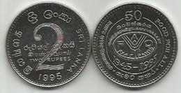 Sri Lanka 2 Rupees 1995. FAO High Grade - Sri Lanka