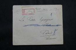 TURQUIE - Enveloppe En Recommandé De Andrinople Pour Paris En 1926, Affranchissement Plaisant Au Verso - L 56391 - Lettres & Documents