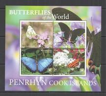 2020 PENRHYN BUTTERFLIES OF THE WORLD FLORA & FAUNA KB MNH - Farfalle