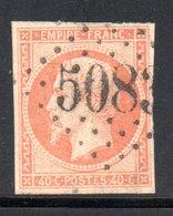 YT 16 OBLITERATION  TARDIVE GC GROS CHIFFRE 5083 --- CONSTANTINOPLE - TURQUIE - - 1853-1860 Napoléon III.
