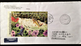 "Brazil, Circulated Cover To Portugal, ""Fauna & Flora"", ""Fish"", ""Birds"", 2009 - Cartas"