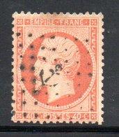 YT 23 OBLITERATION  ANCRE - COTE 20 € - 1862 Napoléon III.