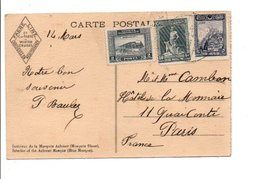 TURQUIE AFFRANCHISSEMENT COMPOSE SUR CARTE POUR LA FRANCE 1939 - 1921-... Republiek