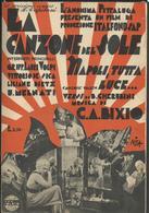 """Spartito Musicale """"Napoli Tutta Luce"""" Del Film Del 1933 """"La Canzone Del Sole"""" Con Vittorio De Sica E Lilliane Dietz - Música De Películas"""