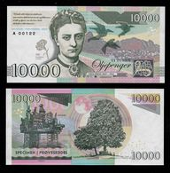 GABRIS 10000 Norwegen, RRRR, UNC, 145 X 71 Mm, Essay, Trial, UV, Wm, Mit Serial No., # 91 - Norvegia