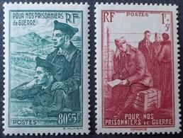 R1513/137 - 1941 - AU PROFIT DES PRISONNIERS DE GUERRE - N°474 à 475 NEUFS** - France
