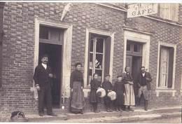 Carte Photo : Très Rare La Neuville Du Bosc (27)  Café Buraliste Famille Durand  TBE - Lieux