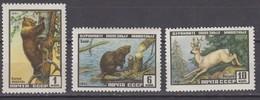 Russia, USSR07/28.01.1961 Mi # 2448-50 A, Animals MNH OG - Nuevos