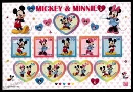 Japan - Japon 2012 Yvert 5697-706, Animation Film. Disney, Mickey Mouse & Minnie - Sheetlet - MNH - Ongebruikt
