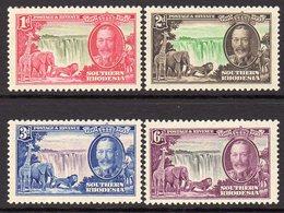 Southern Rhodesia 1935 GV Silver Jubilee Set Of 4, Hinged Mint, SG 31/4 (BA) - Rhodésie Du Sud (...-1964)