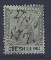 Trinidad & Tobago: 1904/09   Britannia     SG143   1/-   Black/green   Used Fiscal - Trinidad & Tobago (...-1961)