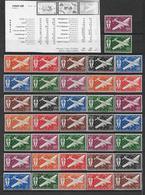 SERIE COLONIALE - 1941/45 - SERIE DE LONDRES POSTE AERIENNE * MLH - 71 VALEURS - COTE MAURY = 110 EUR. - France (ex-colonies & Protectorats)