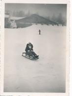 Snapshot Mont Revard Savoie 2 Janvier 1938 Luge Ski Traîneau Chalet Neige Jeu - Lieux