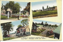 Scenes At «Cowlishaw's American Colony Camp» , Champigny Lorette, Québec, (18.827) - Quebec
