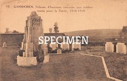 13 Pelouse D'honneur Réservée Aux Soldats Morts Pour La Patrie 1914-18 - Ganshoren - Ganshoren