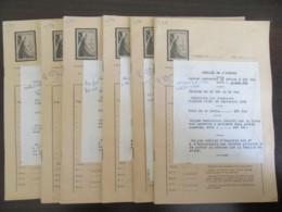 Petit Prix ! France - 6 Carnets De Timbres De Service 25f Et 50f YT N°19 Et 21 Oblitérés Au 14 Septembre 1959 (1er Jour) - Lettres & Documents