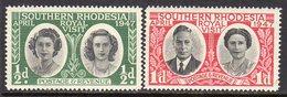 Southern Rhodesia 1947 Royal Visit Set Of 2, MNH, SG 62/3 (BA) - Zuid-Rhodesië (...-1964)