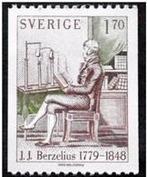 SCIENCE NATURWISSENSCHAFT CHEMISTRY CHEMIE CHIMIE BERZELIUS  SWEDEN SUEDE SCHWEDEN 1979 MNH MI 1073 - Chemistry