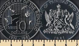 Trinidad & Tobago 10 Dollars 1981 - Trinité & Tobago