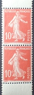 R1513/149 - 1907 - TYPE SEMEUSE CAMEE - PAIRE VERTICALE De CARNET - N°138e (Ic) TIMBRES NEUFS** - Nuevos