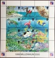 Solomon Islands 1999 Philexfrance Marine Life Birds Crabs Turtles Fish Sheetlet MNH - Briefmarken